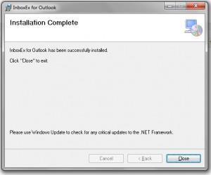 Testing InboxEx Step 5 Installation Complete